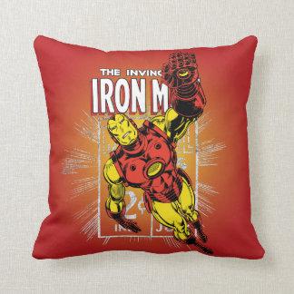Iron Man Retro Comic Price Graphic Cushion