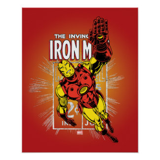 Iron Man Retro Comic Price Graphic Poster