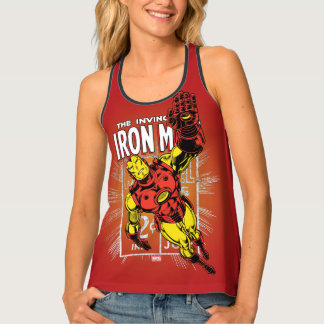 Iron Man Retro Comic Price Graphic Singlet