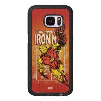 Iron Man Retro Comic Price Graphic Wood Samsung Galaxy S7 Case