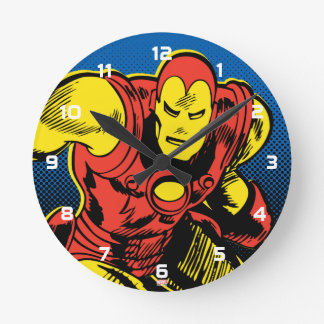 Iron Man Retro Flying Round Clock