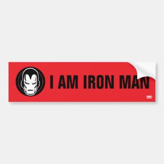 Iron Man Retro Icon Bumper Sticker