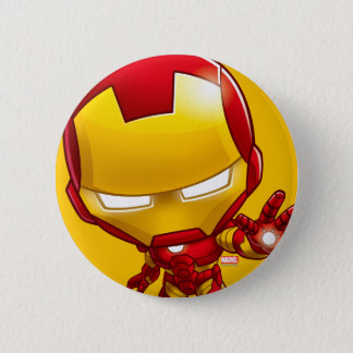 Iron Man Stylized Art 6 Cm Round Badge