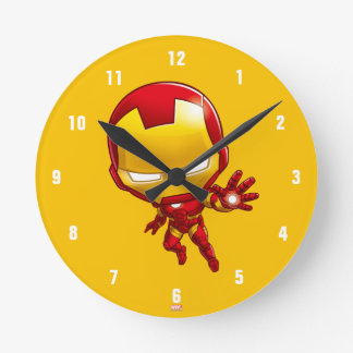 Iron Man Stylized Art Round Clock