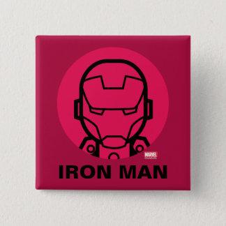 Iron Man Stylized Line Art Icon 15 Cm Square Badge