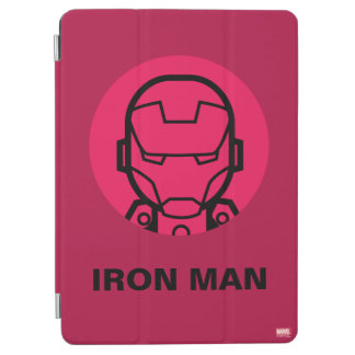 Iron Man Stylized Line Art Icon iPad Air Cover