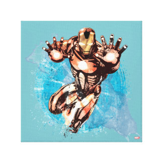 Iron Man Watercolor Character Art Canvas Print