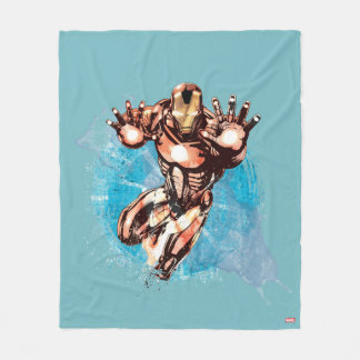 Iron Man Watercolor Character Art Fleece Blanket