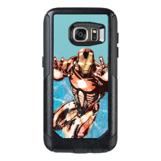 Iron Man Watercolor Character Art OtterBox Samsung Galaxy S7 Case