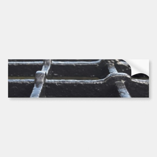 Iron mesh made of thick iron bars bumper stickers