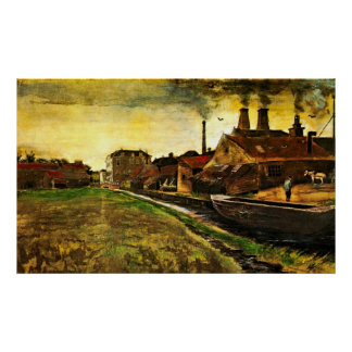 Iron Mill in The Hague by Vincent van Gogh Poster