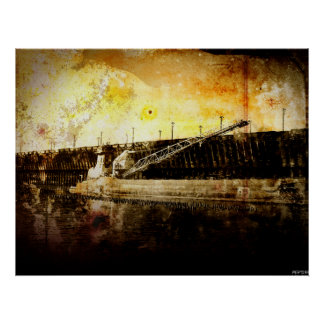 Iron Ore Freighter Poster