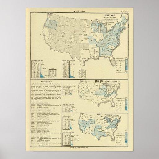 Iron ore mining regions print