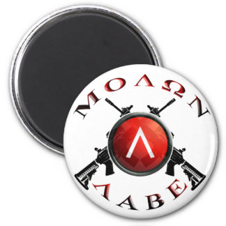 Iron Sights/Molon Labe Refrigerator Magnet