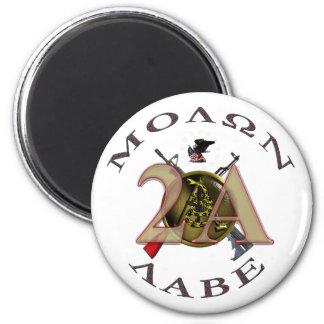 Iron Sights/Molon Labe 6 Cm Round Magnet