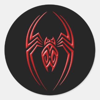 Iron Spider – Red and Black Round Sticker