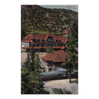 Iron Springs Cog Road Station & Hotel Poster