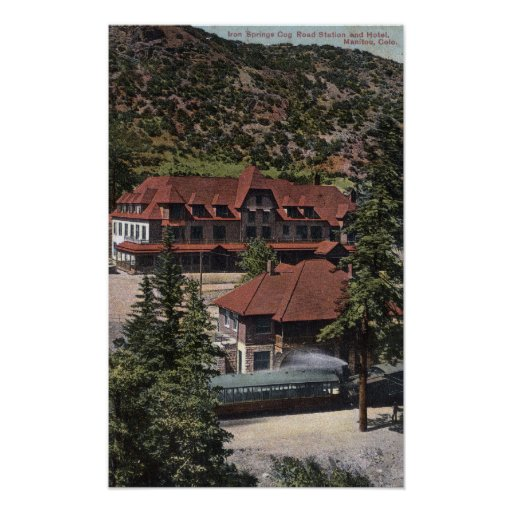 Iron Springs Cog Road Station & Hotel Print