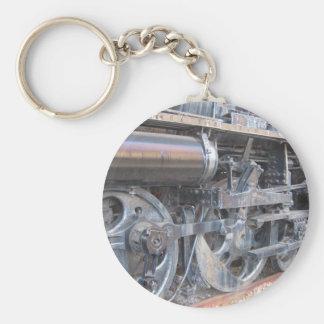 Iron Wheels of a Majestic Iron Horse Locomotive Basic Round Button Key Ring