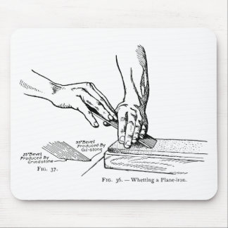 Iron Whetting Illustration Mouse Pad