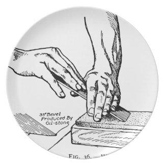Iron Whetting Illustration Plate