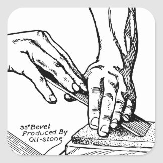 Iron Whetting Illustration Square Sticker