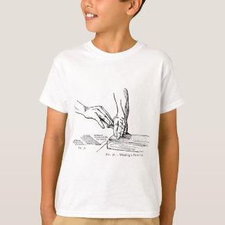 Iron Whetting Illustration T-Shirt