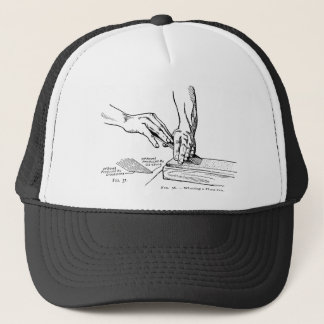Iron Whetting Illustration Trucker Hat