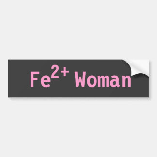 Iron Woman Triathelete, Pink and Grey Bumper Sticker