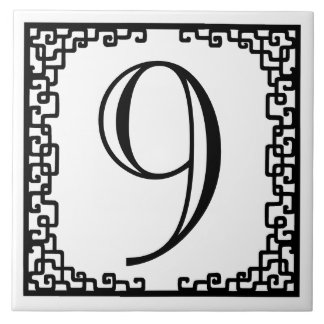 Iron Work Frame Personalized Street Number Tile