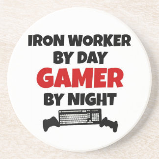 Iron Worker by Day Gamer by Night Coaster