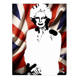Irone Lady - Margaret Thatcher Postcard