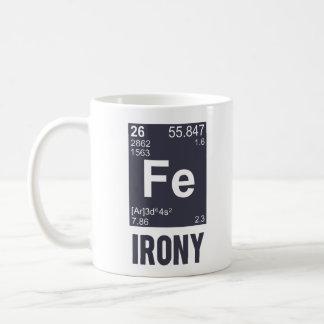 Ironic Chemical Element FE Irony Coffee Mug