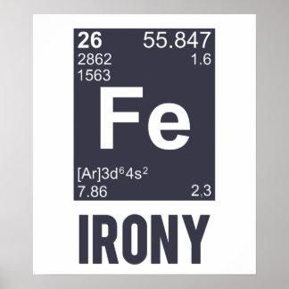 Ironic Chemical Element FE Irony Poster