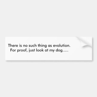 Ironic Evolution Bumper sticker