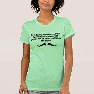 Ironic Mustache WTF T-Shirt