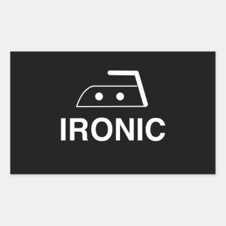 Ironic Rectangular Sticker