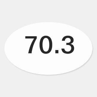 Ironman 70.3 oval sticker