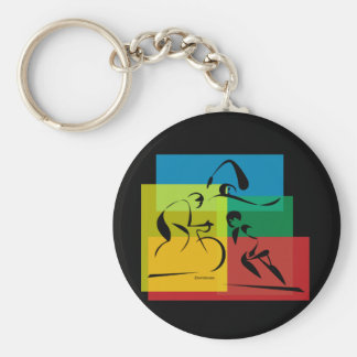 Ironman Abstract 4 Basic Round Button Key Ring