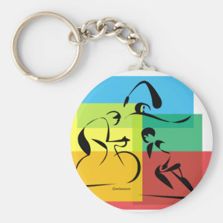 Ironman Abstract 4 Key Chain