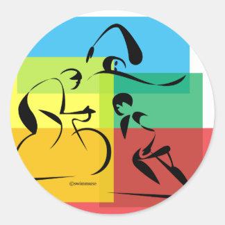 Ironman Abstract 4 Round Sticker