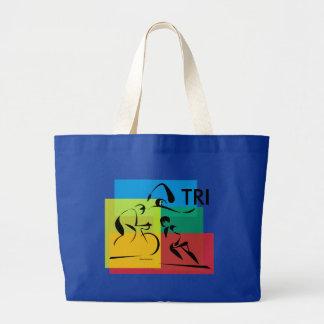 Ironman Abstract 4 Jumbo Tote Bag