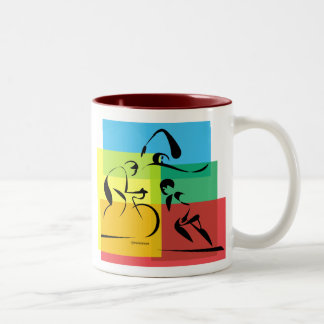 Ironman Abstract 4 Two-Tone Mug