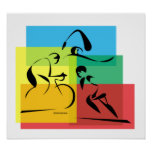 Ironman Abstract Plain4 Poster