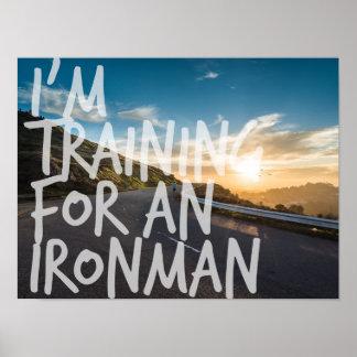 Ironman Training Inspiration Poster