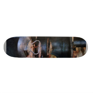 Irons Heating on Stove Skate Board