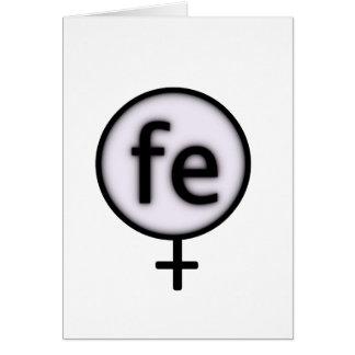 ironwoman greeting card