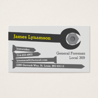 Ironworker Business Card