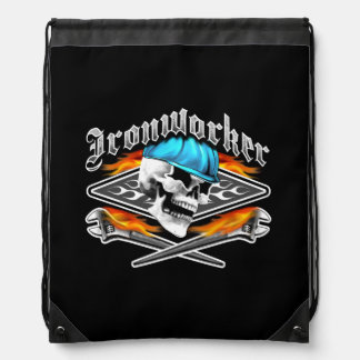 Ironworker Skull and Flaming Wrenches Rucksack