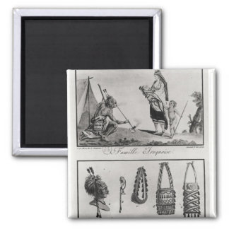 Iroquois family, arms and ornaments magnet